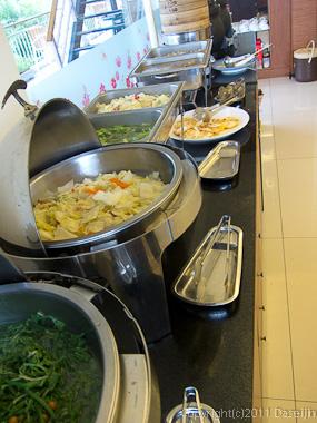 120312関子嶺温泉・朝食は精進料理