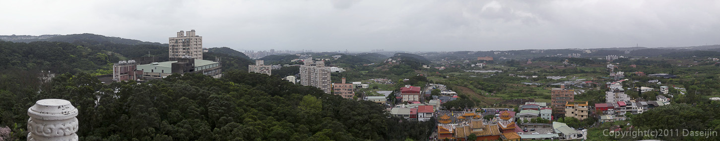 120312台北・淡水天元宮最上階の展望