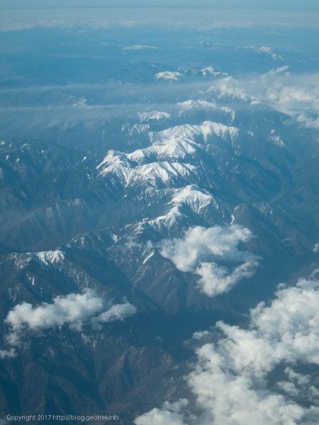 170224雪の南アルプスから中央アルプス