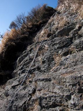 111104谷川岳・オジカ沢の頭の岩場