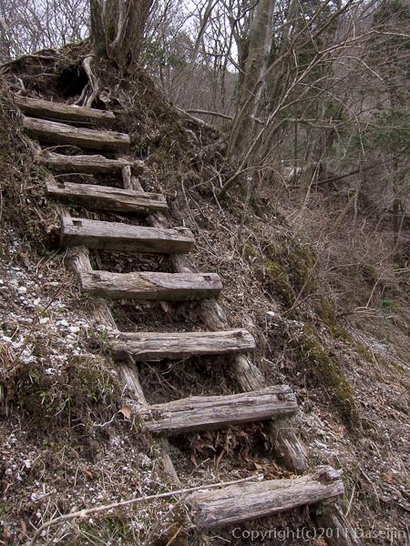 120407丹沢・雨山峠のハシゴ
