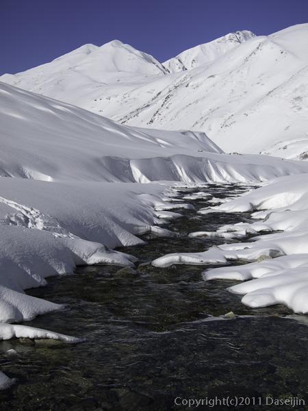 111126立山スキー・称名川と大日岳