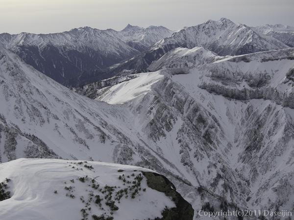 111127立山スキー・薬師岳、槍ヶ岳