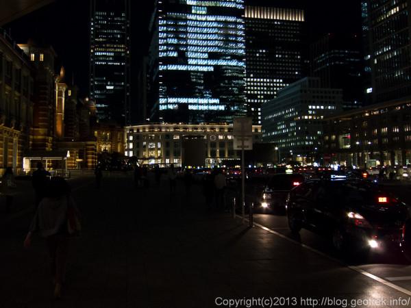 東京駅駅前ロータリーの夜景