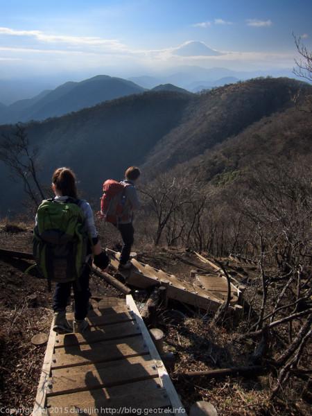 塔ノ岳から鍋割山へ