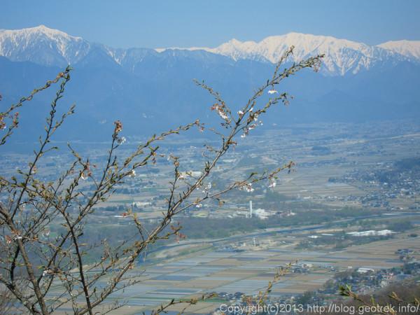 光城山から蓮華岳方面