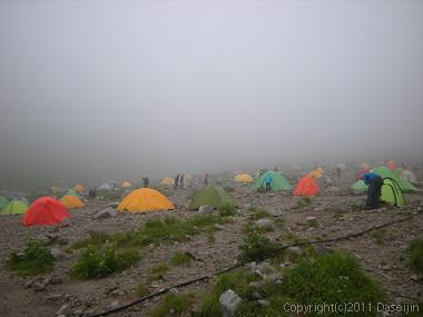 110816剱沢キャンプ場