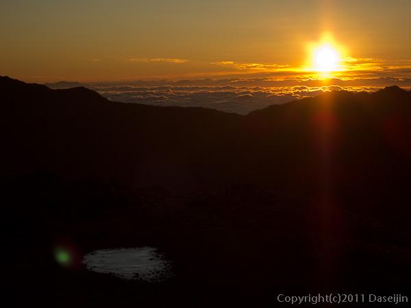 110925別山からの朝日