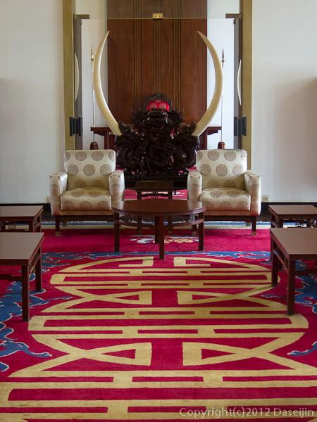 121117ベトナム・統一会堂の部屋